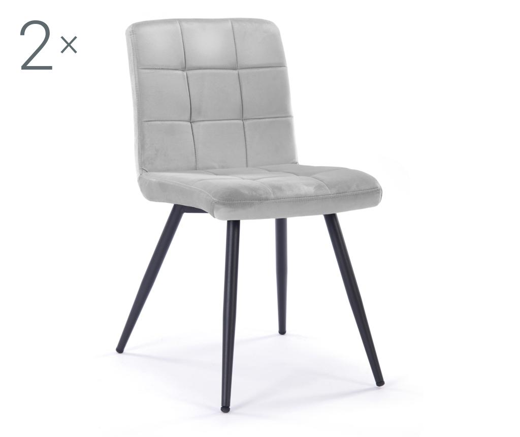 Set 2 scaune Eloise Light Grey vivre.ro