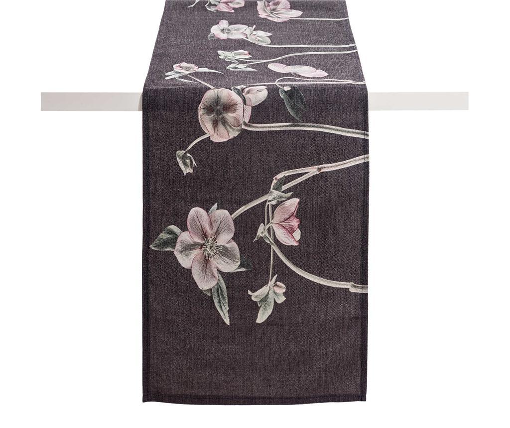 Traversa de masa Anemones Dark Grey 40x160 cm imagine