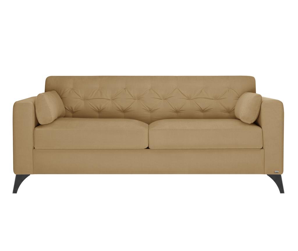 Canapea 3 locuri Vanity Toffee - Guy Laroche Home, Crem imagine