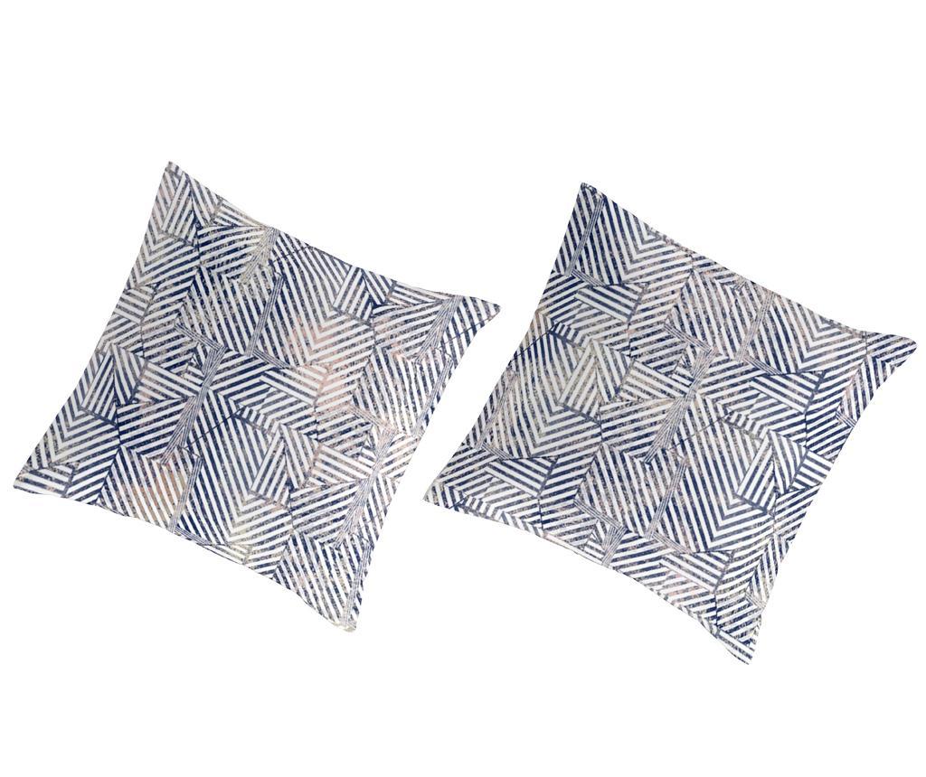 Set 2 fete de perna Percale Rahin Navy - Guy Laroche Home, Albastru vivre.ro