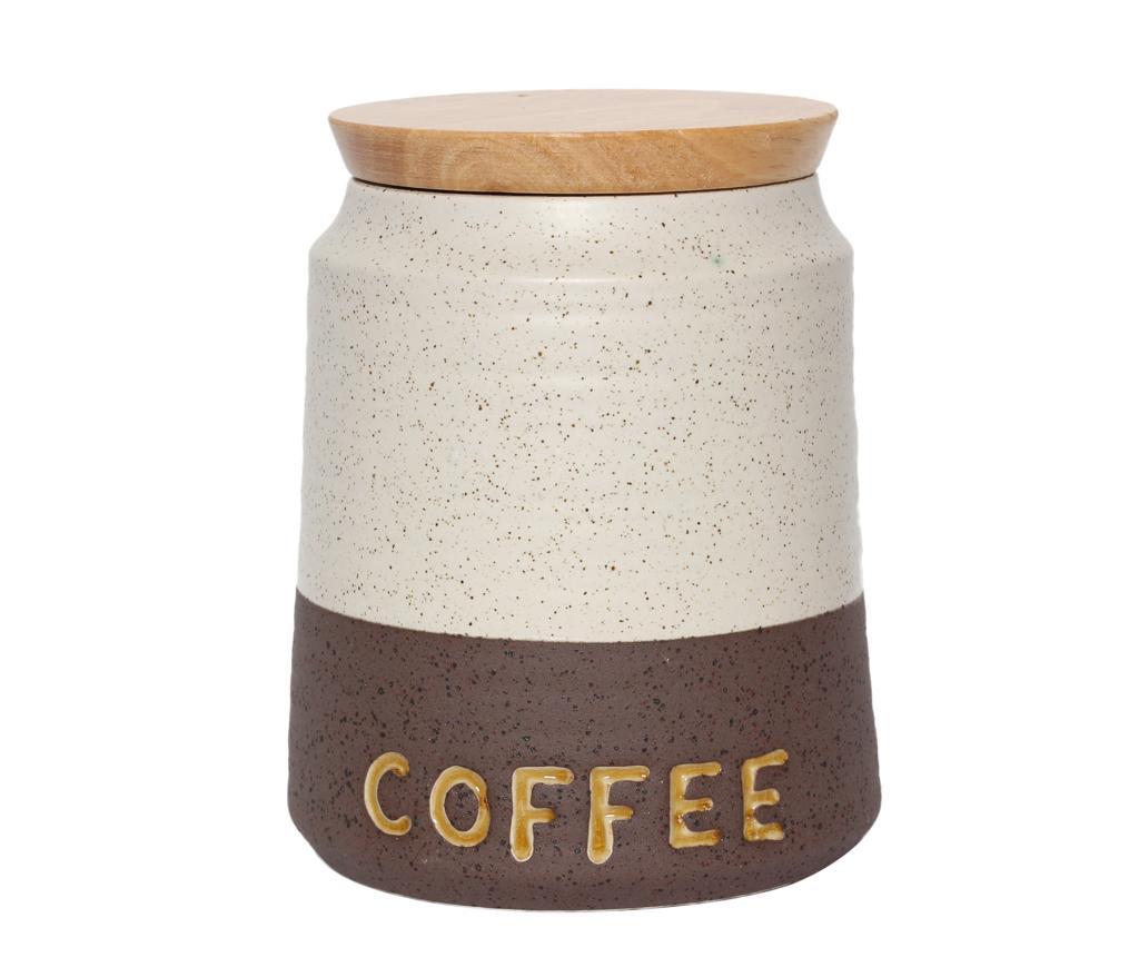 Recipient cu capac pentru cafea Dots - Baroni Home, Crem imagine