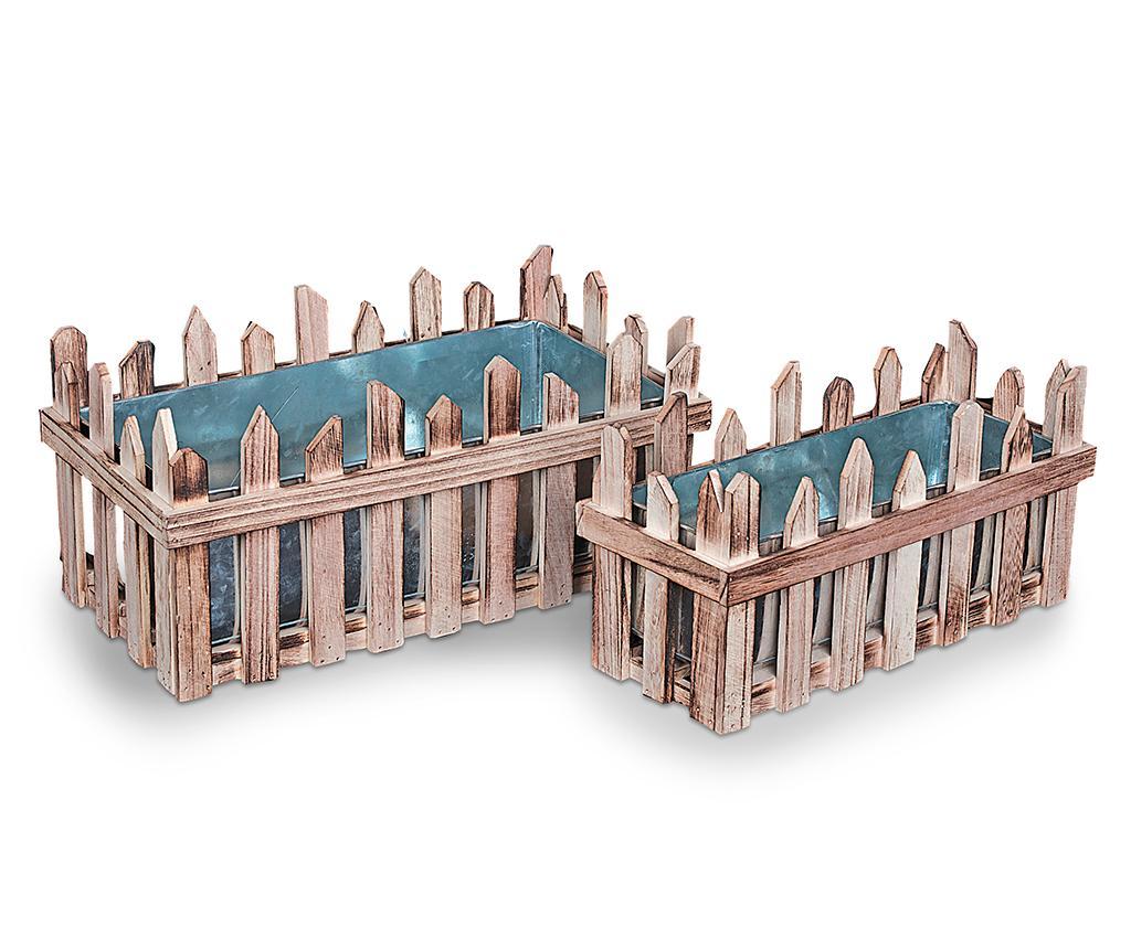 Set 2 ghivece Fence - Disraeli, Maro de la Disraeli
