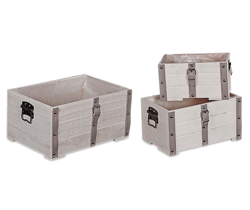 Set 3 ghivece Trunks - Disraeli, Gri & Argintiu imagine