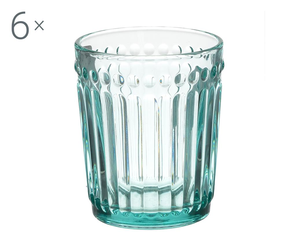 Set 6 pahare pentru whiskey Clara Blue 227 ml imagine