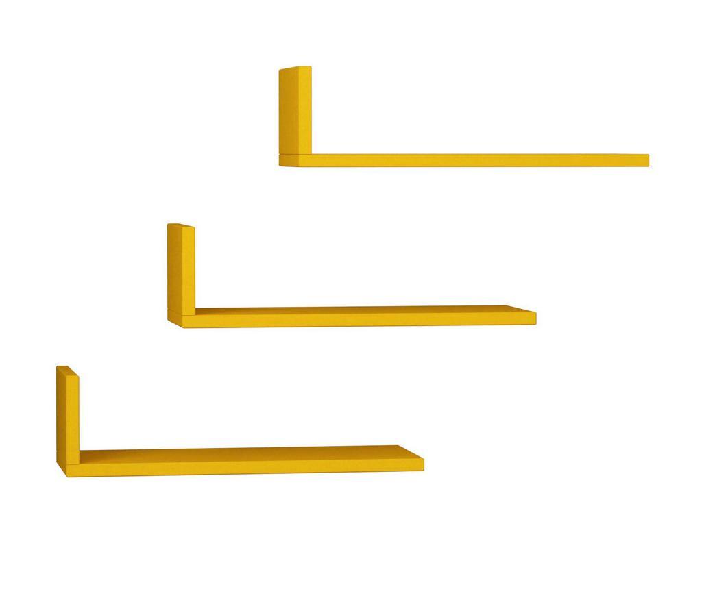 Set 3 rafturi de perete Model Mustard vivre.ro