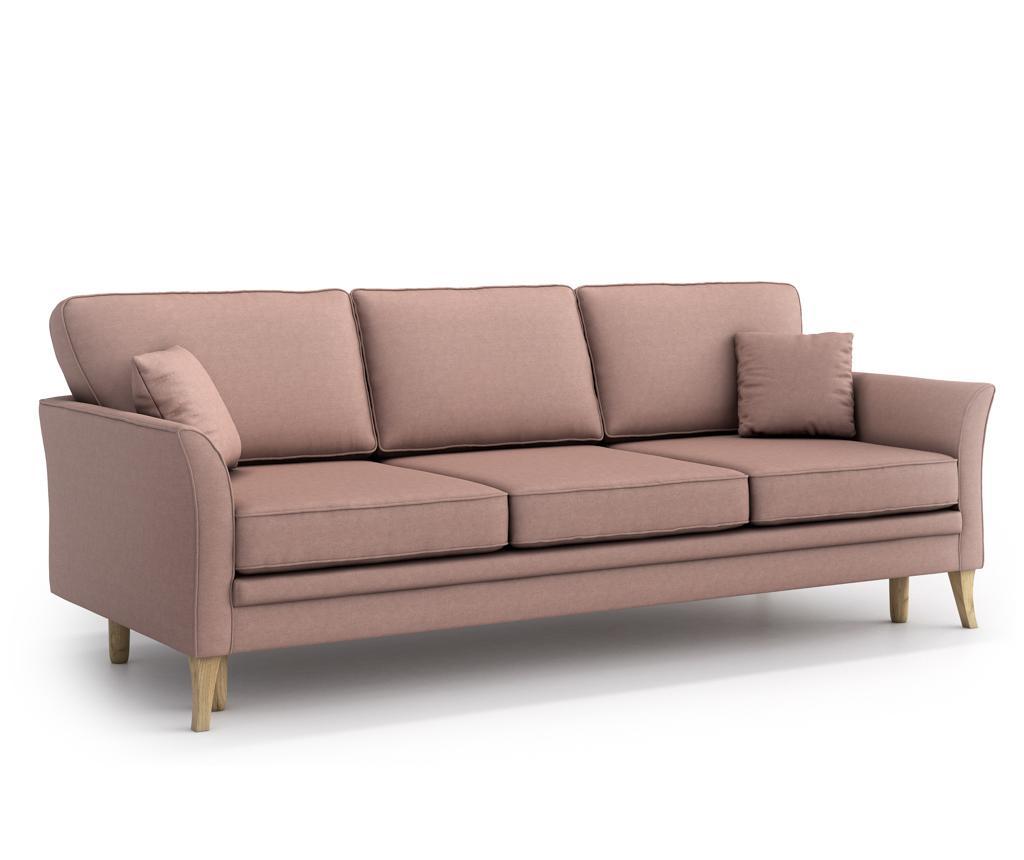 Canapea extensibila 3 locuri Juliett Powder pink vivre.ro