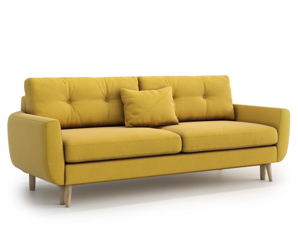 Canapea extensibila 3 locuri Harris Yellow vivre.ro