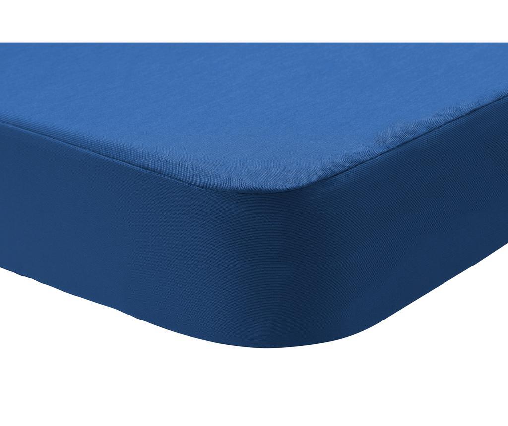Cearsaf De Pat Cu Elastic Dustin Dark Blue 160x200cm