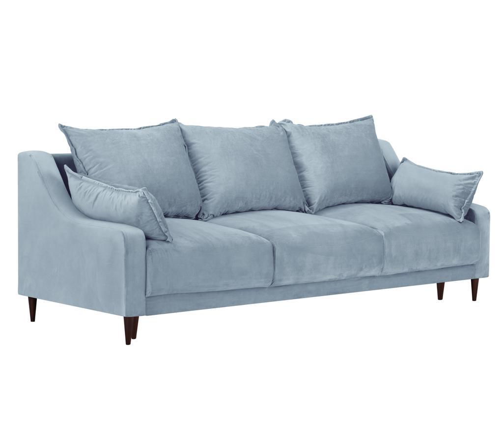 Canapea extensibila 3 locuri Freesia Light Blue - Mazzini Sofas, Albastru