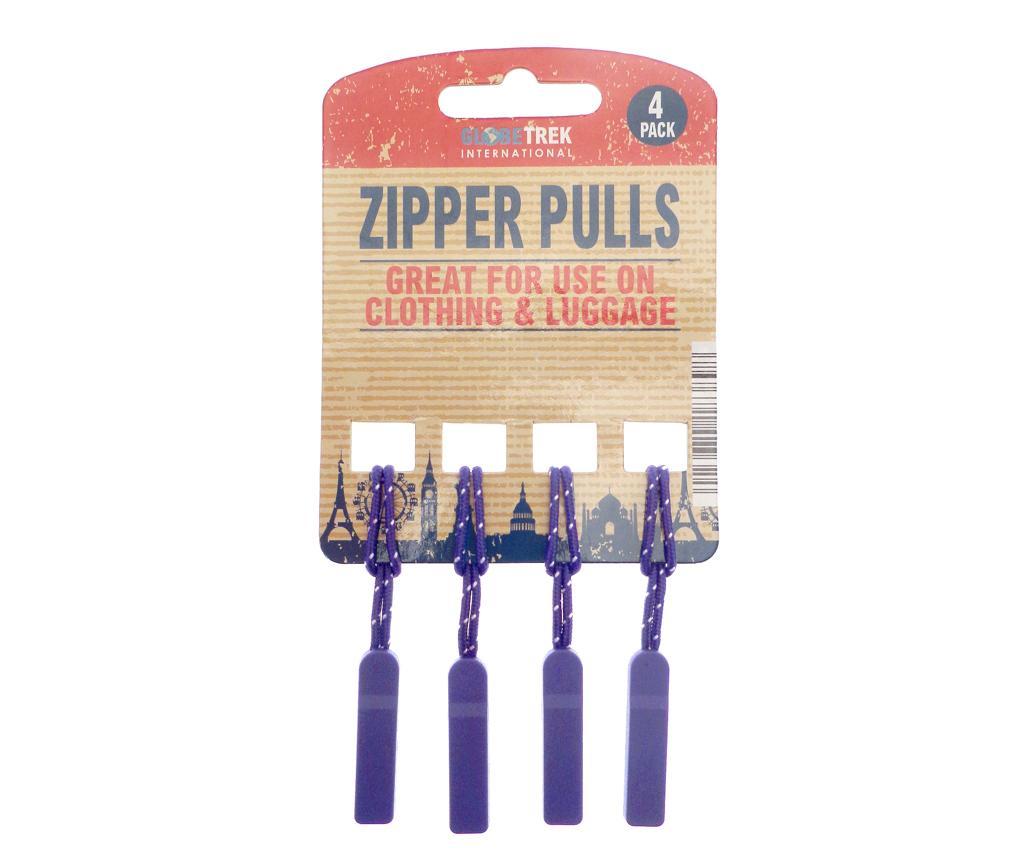 Set 4 accesorii pentru fermoar Smart Purple