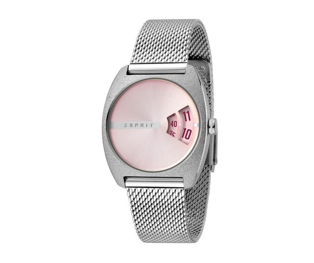 Ceas De Mana Dama Esprit Disc Mood Pink And Silver