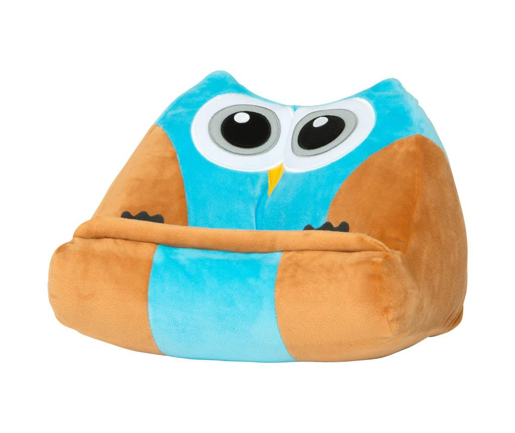 Suport de carti Cuddly Reader - Owliver - Thinking Gifts, Multicolor