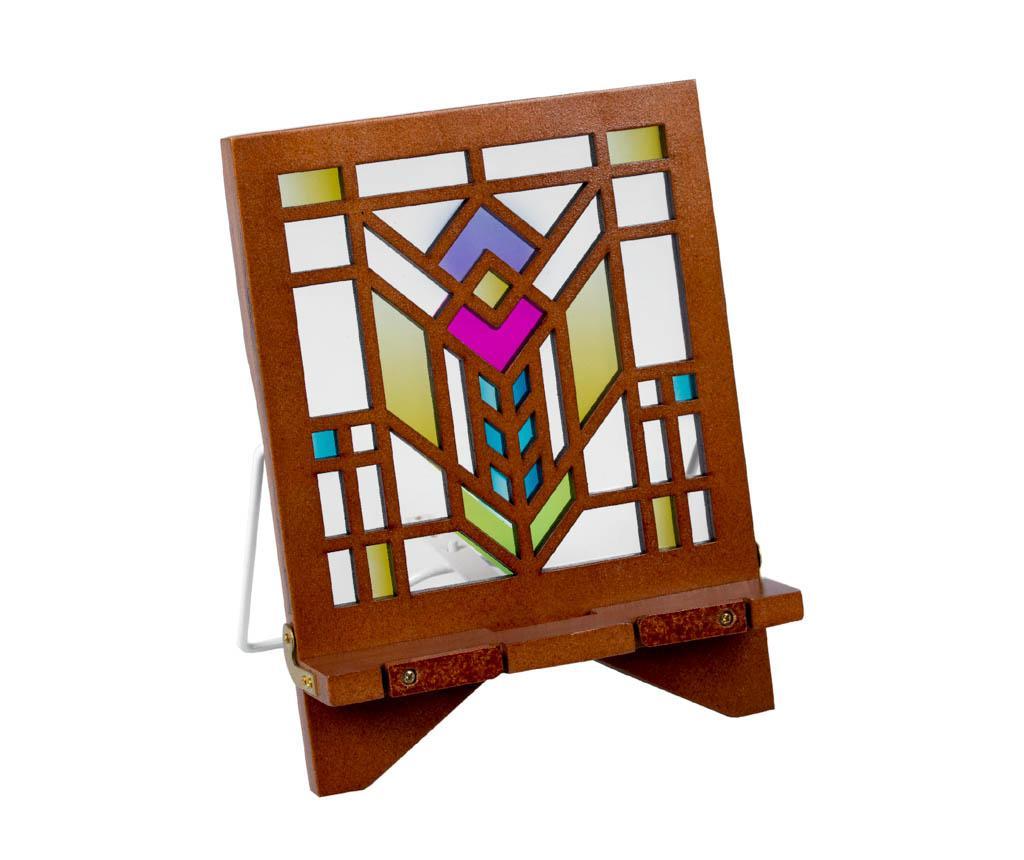 Suport de carti Architecture Series Bookholder Petunia - Thinking Gifts, Multicolor poza