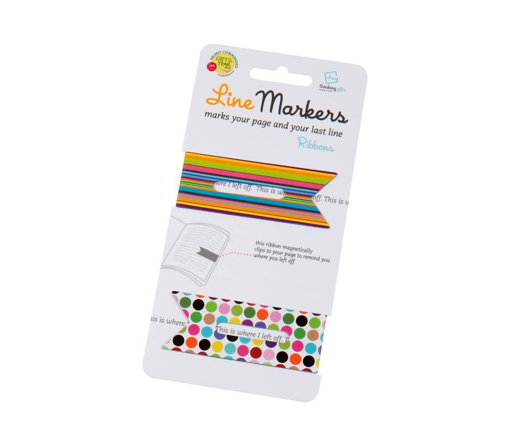 Set 2 semne pentru carte Linemarkers Ribbons