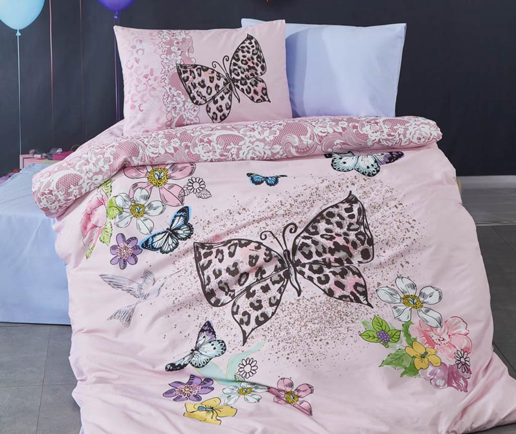 Lenjerie de pat Single Butterfly - The Club Cotton, Multicolor