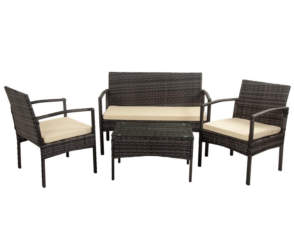 Set mobilier pentru exterior 4 piese Maggs imagine