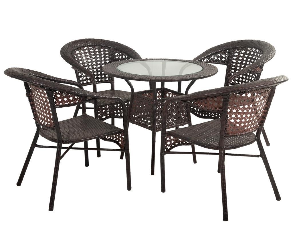 Set masuta si 4 scaune pentru exterior Elice imagine