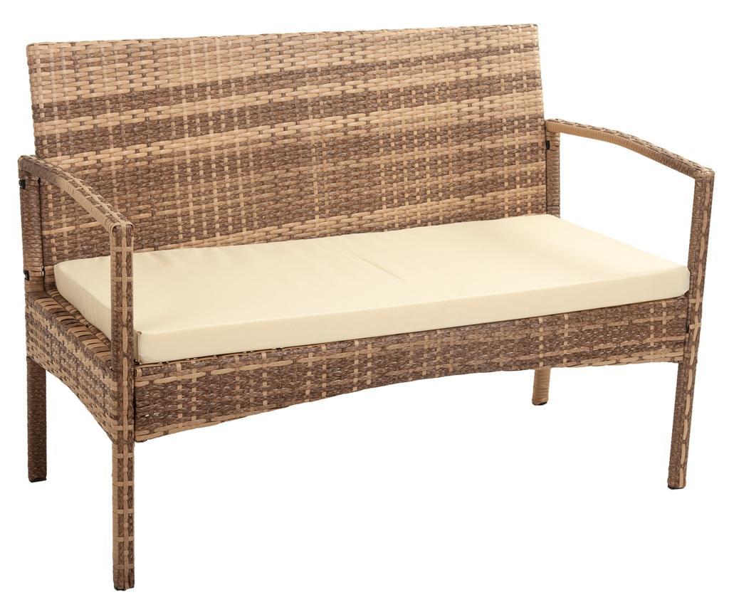 Canapea de exterior Ramy Light Brown - Creaciones Meng, Maro imagine
