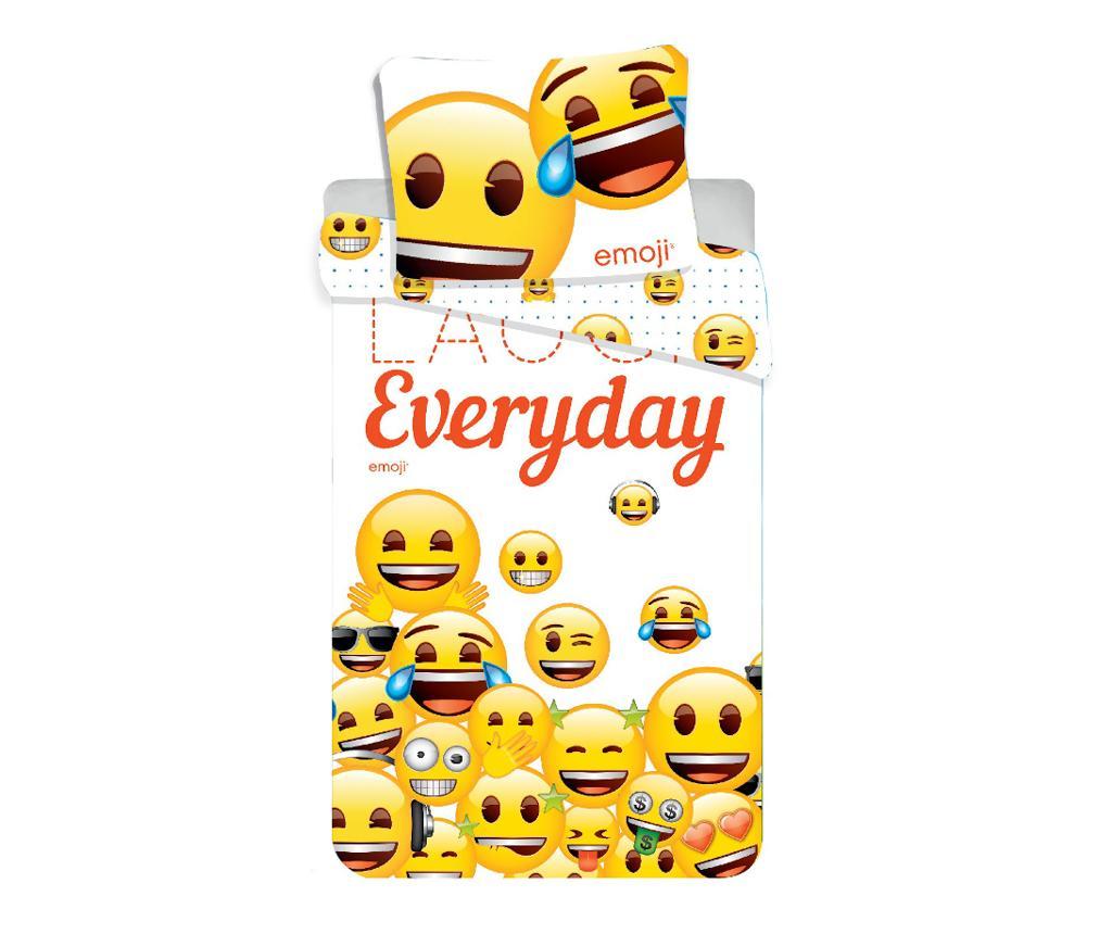 Set de pat Single Emoji Laugh Everyday imagine