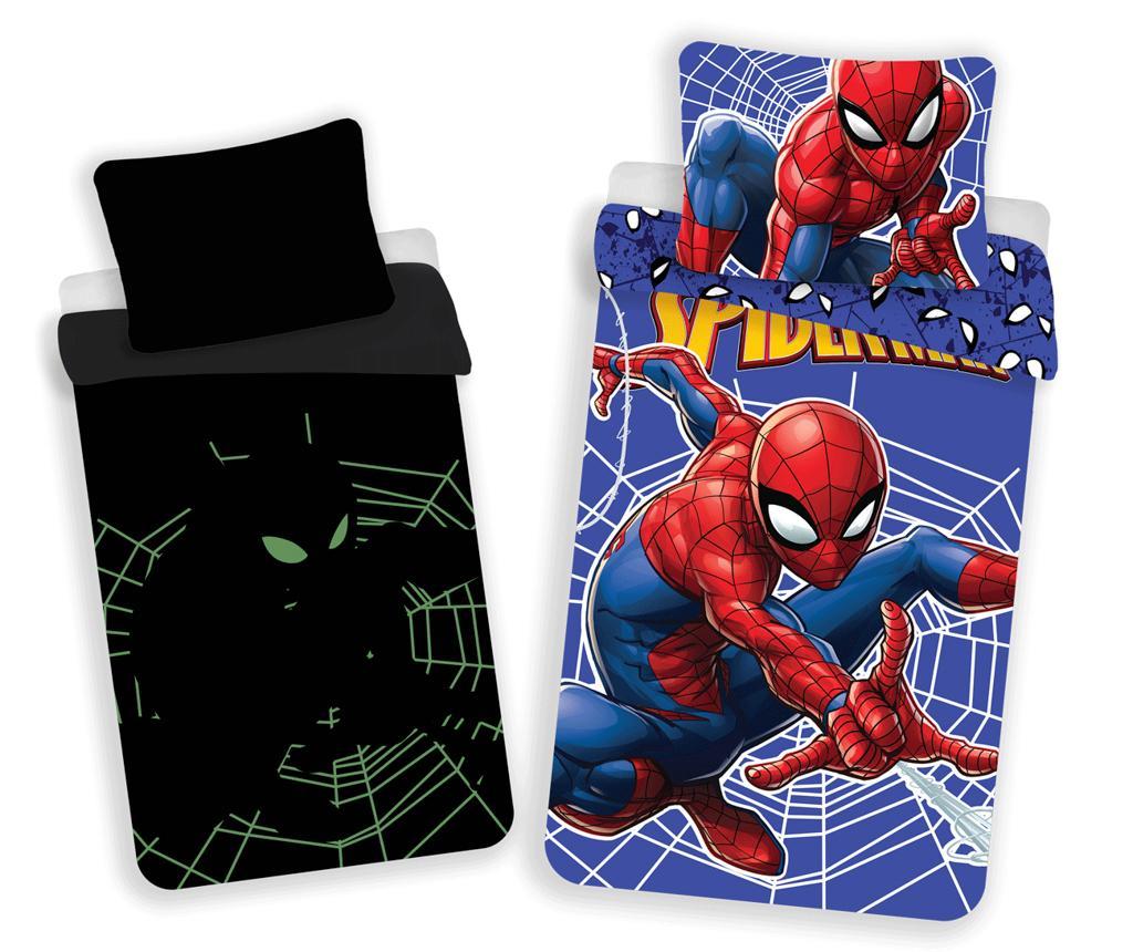 Set de pat Single Spiderman Glow imagine