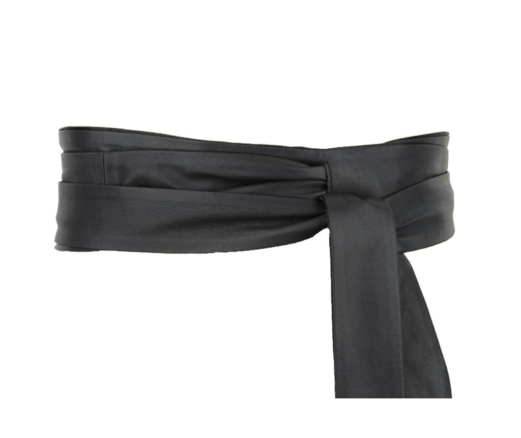 Curea Wrap Black One Size - Woodland Leather, Negru imagine
