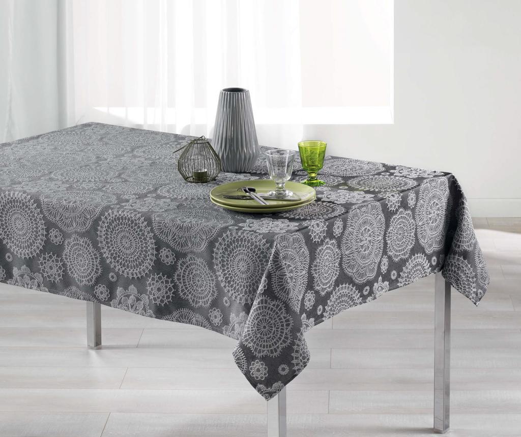 Fata de masa Rose Des Vents Charcoal Grey 140x300 cm imagine
