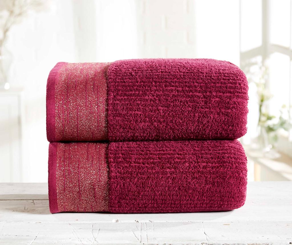 Set 2 prosoape de baie Mayfair Damson - Rapport Home, Multicolor poza