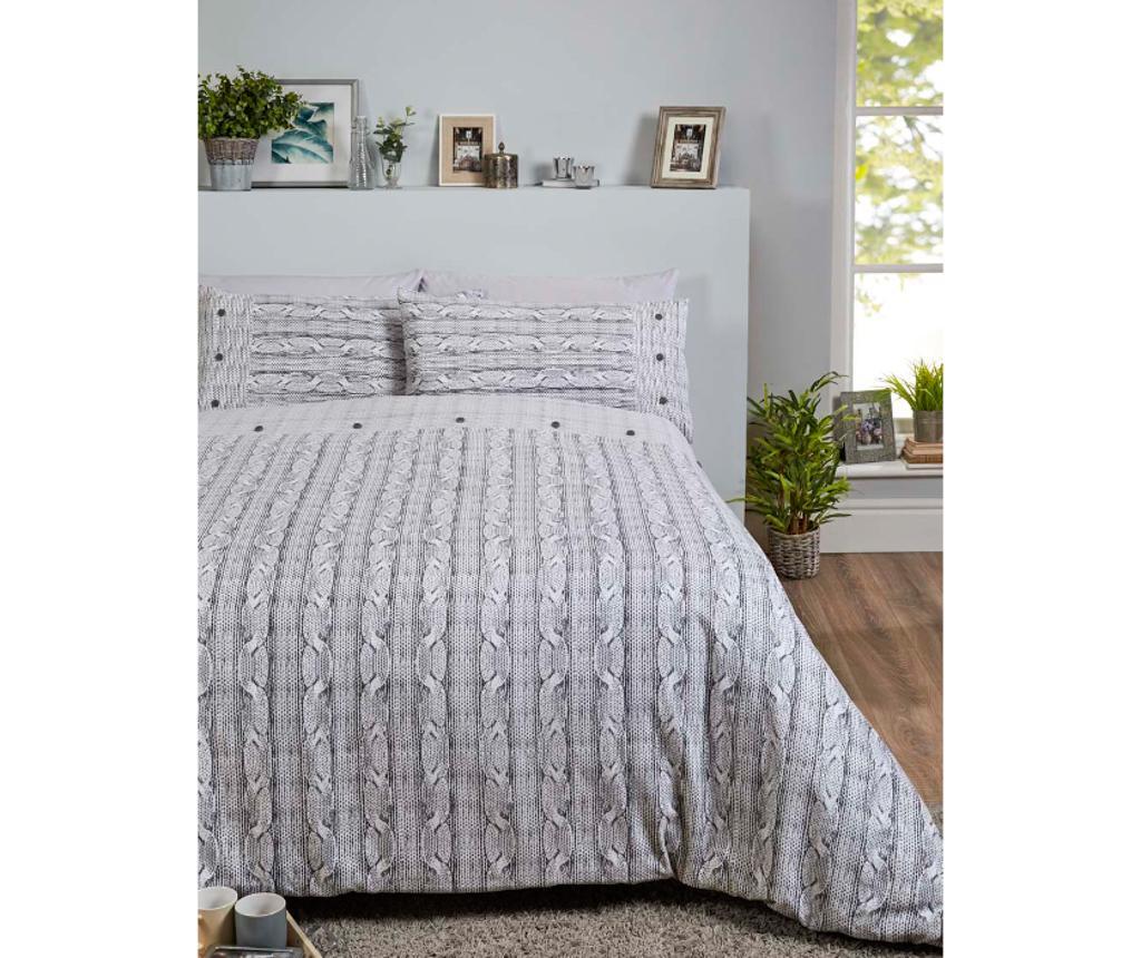 Set cuvertura Single Extra Arran BC Grey - Rapport Home, Multicolor imagine