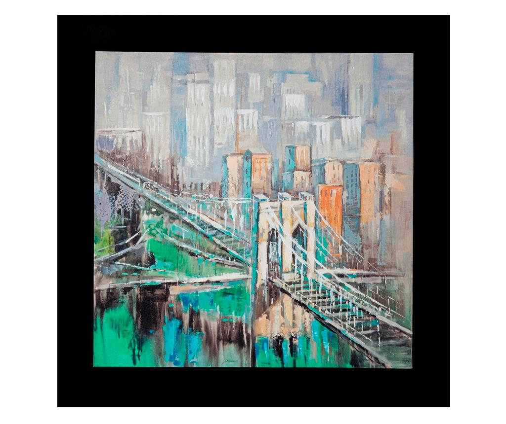 Tablou City Bridge 60x60 cm - Eurofirany, Multicolor imagine