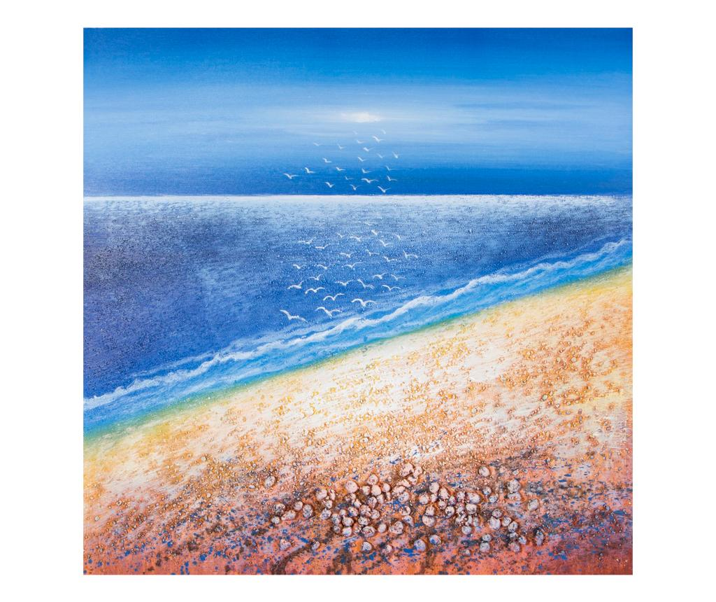 Tablou Sea View 80x80 cm - Eurofirany, Multicolor imagine
