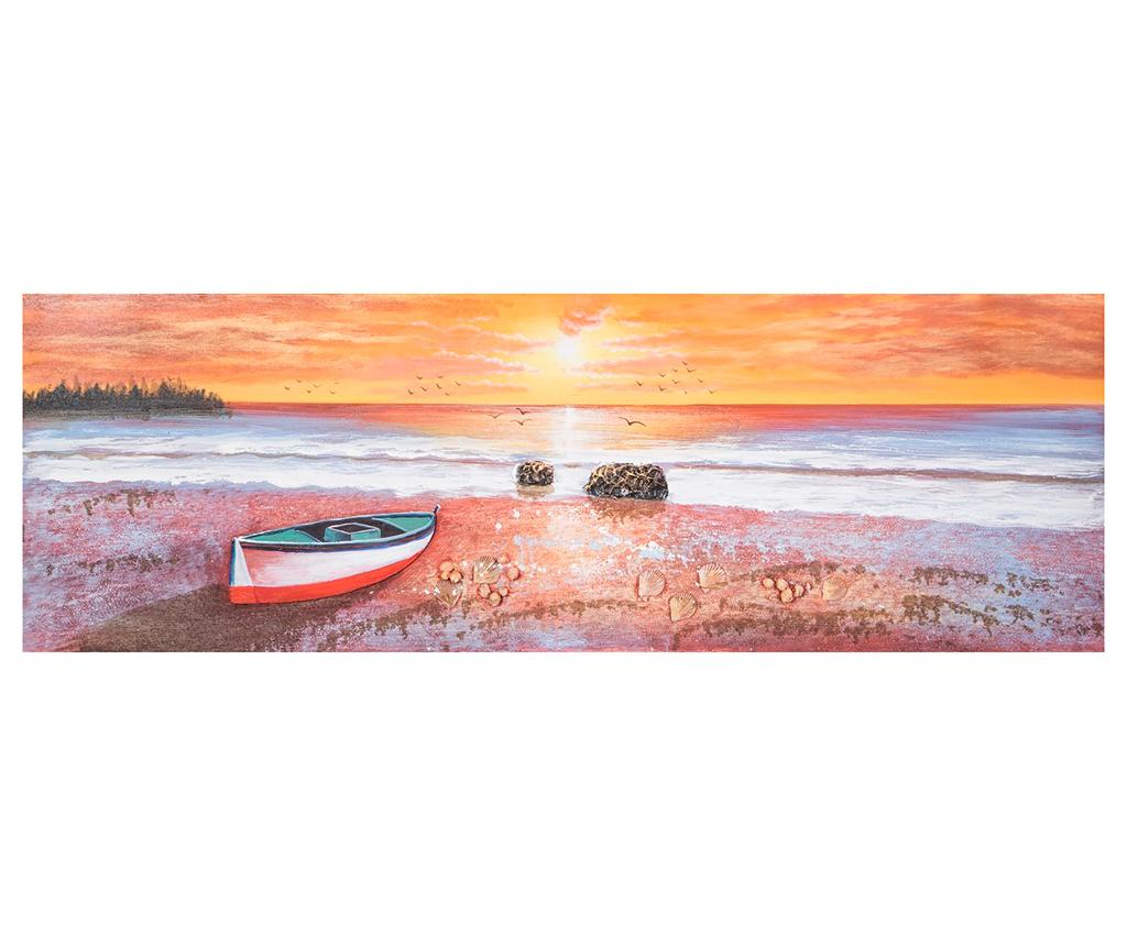 Tablou Sunset 50x150 cm - Eurofirany, Multicolor imagine