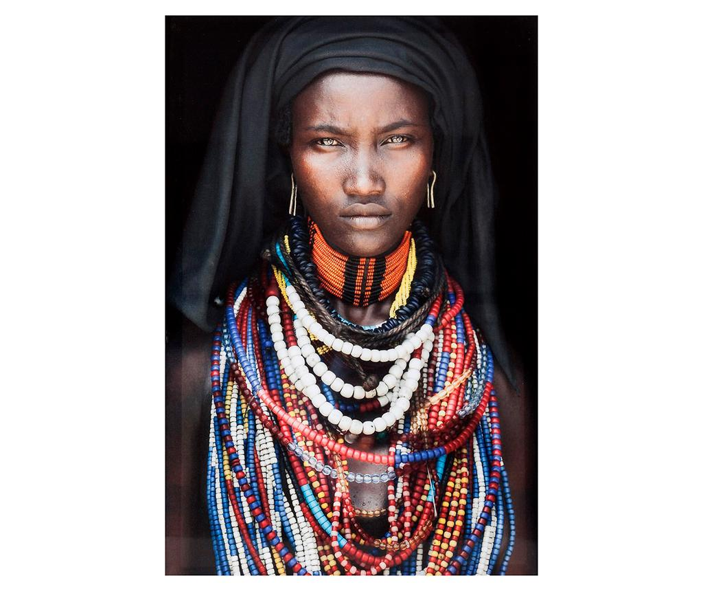 Tablou African Woman 40x60 cm - Eurofirany, Multicolor poza