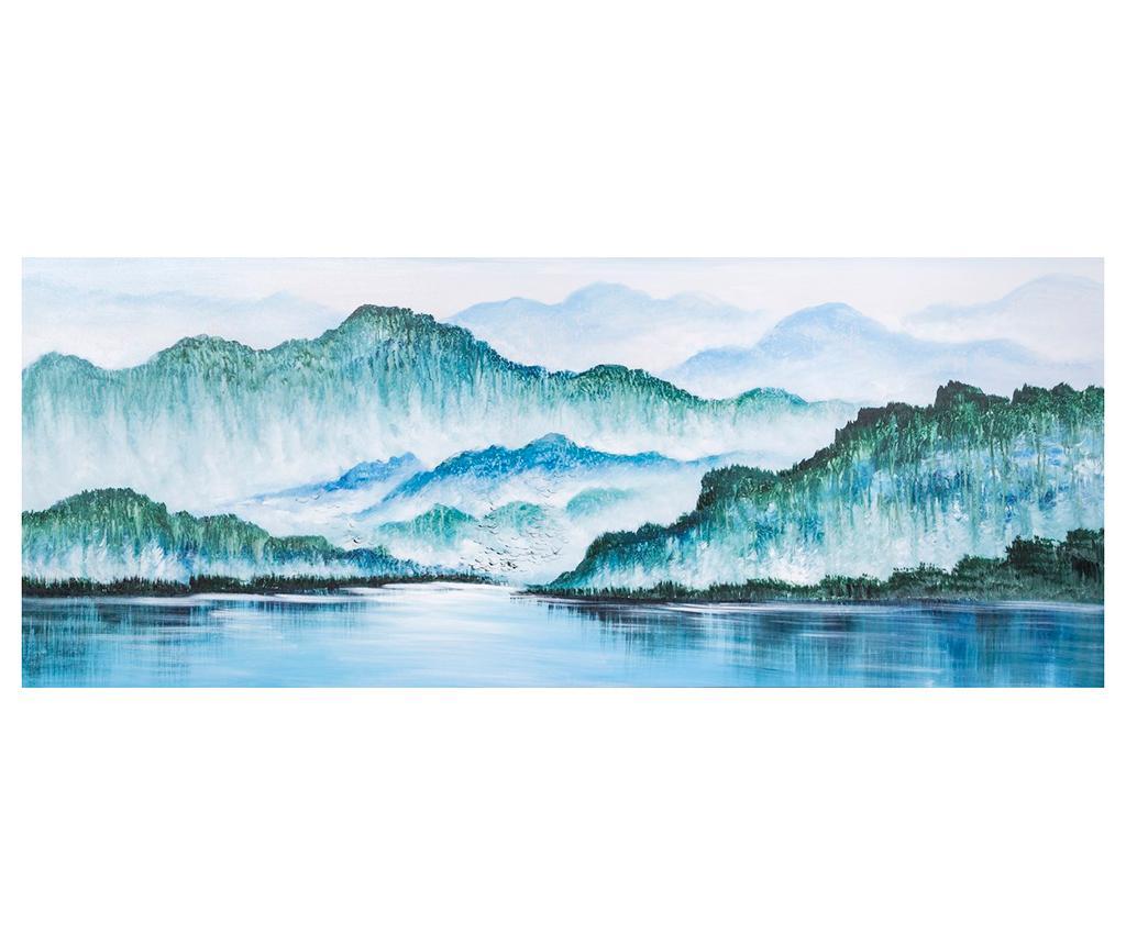 Tablou Mountains 60x150 cm - Eurofirany, Multicolor imagine