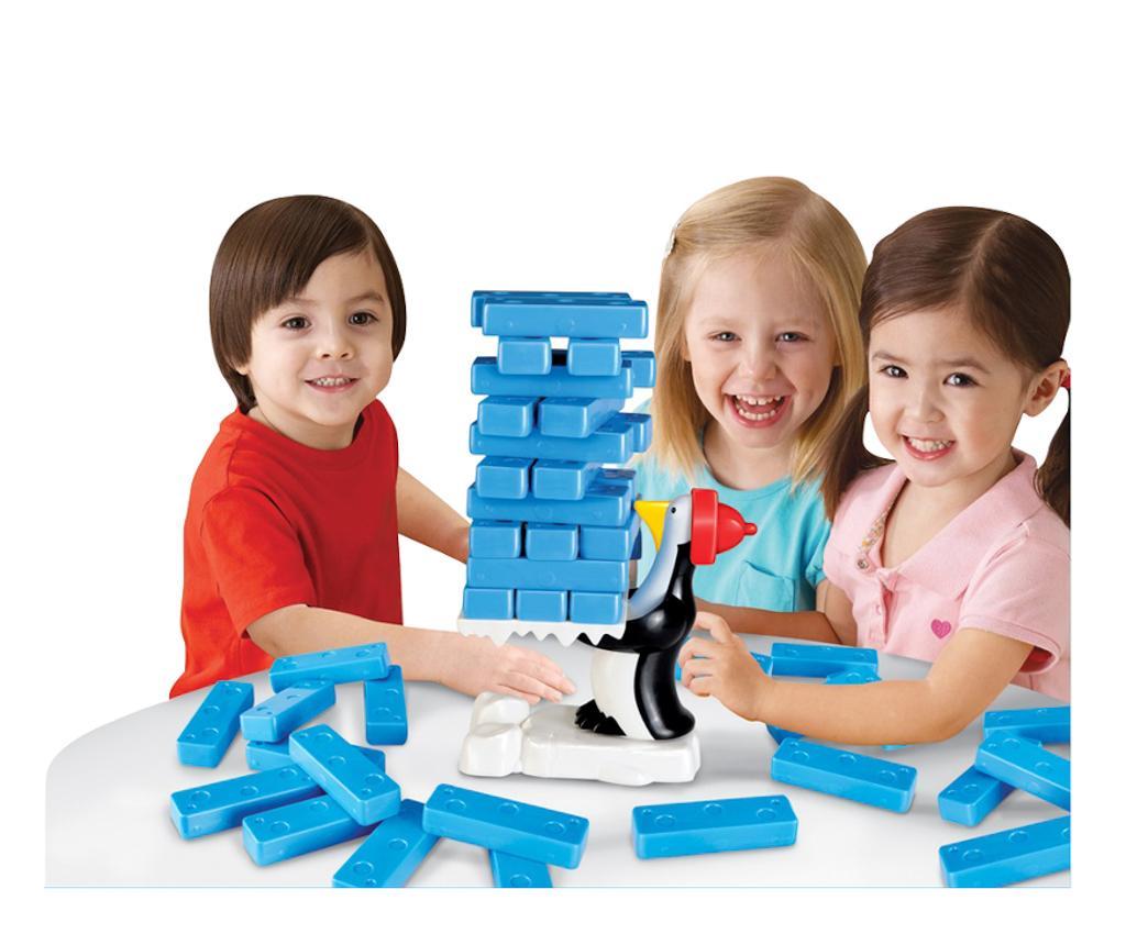 Joc de indemanare Penguins Swing Building Blocks - Juguetes BP, Multicolor - 1