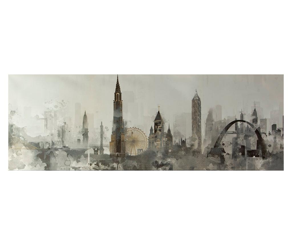 Tablou City Fog 50x150 cm - Eurofirany, Multicolor imagine