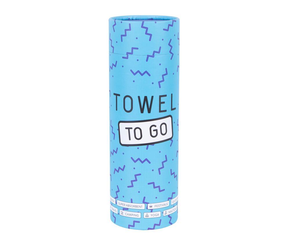 Prosop de plaja Sultan Dark Blue 100x180 cm - Towel to GO, Albastru