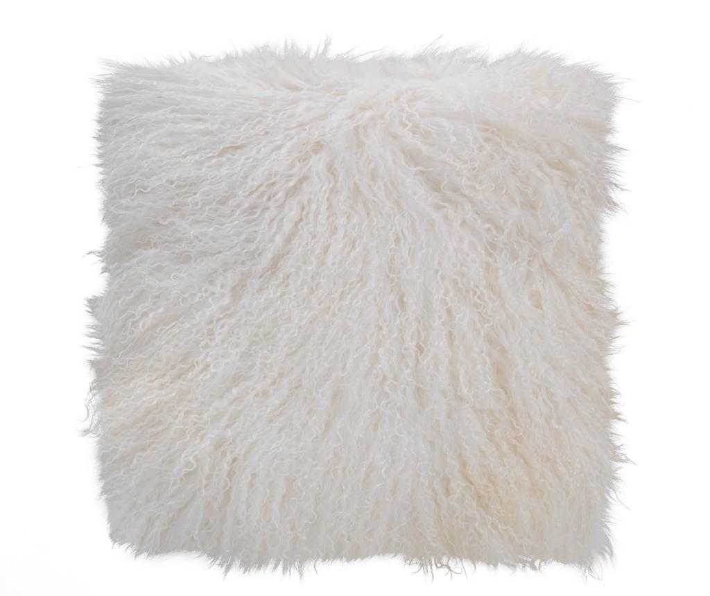 Fata de perna Fur Ivory 40x40 cm - Tomasucci, Alb imagine