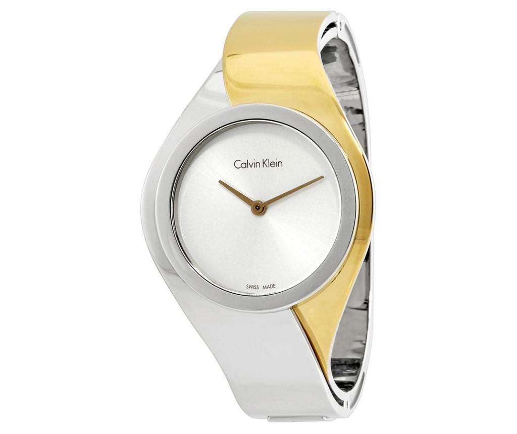 Ceas de mana dama Calvin Klein Senses Silver and Silver and Gold