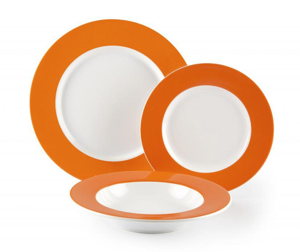Set de masa 18 piese Wing Orange - Excelsa, Portocaliu imagine