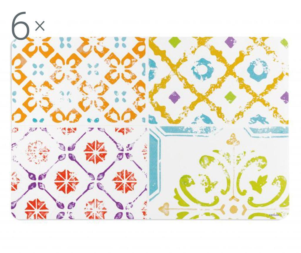Set 6 suporturi farfurii Maioliche - Excelsa, Multicolor imagine