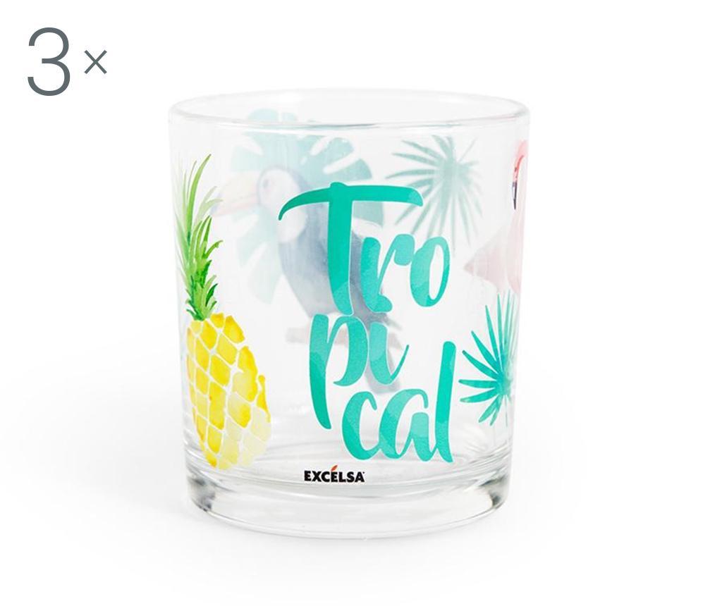 Set 3 pahare Tropical 250 ml