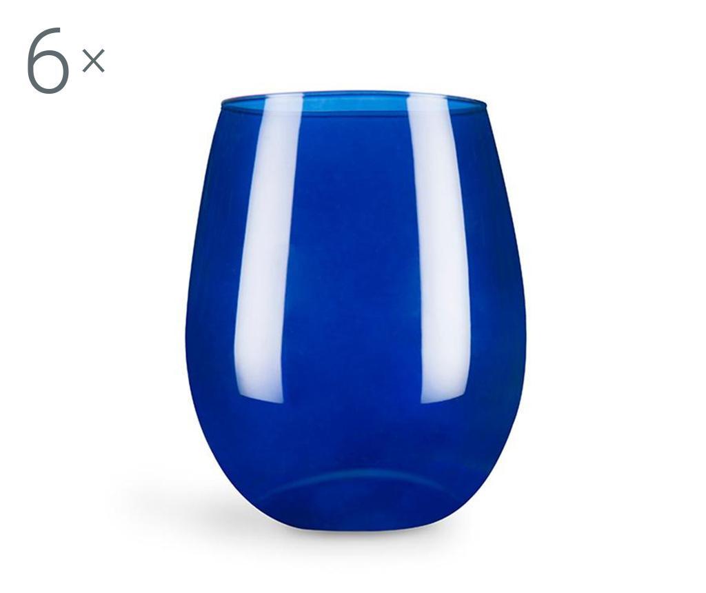 Set 6 pahare Cobalto 390 ml - Excelsa, Albastru imagine