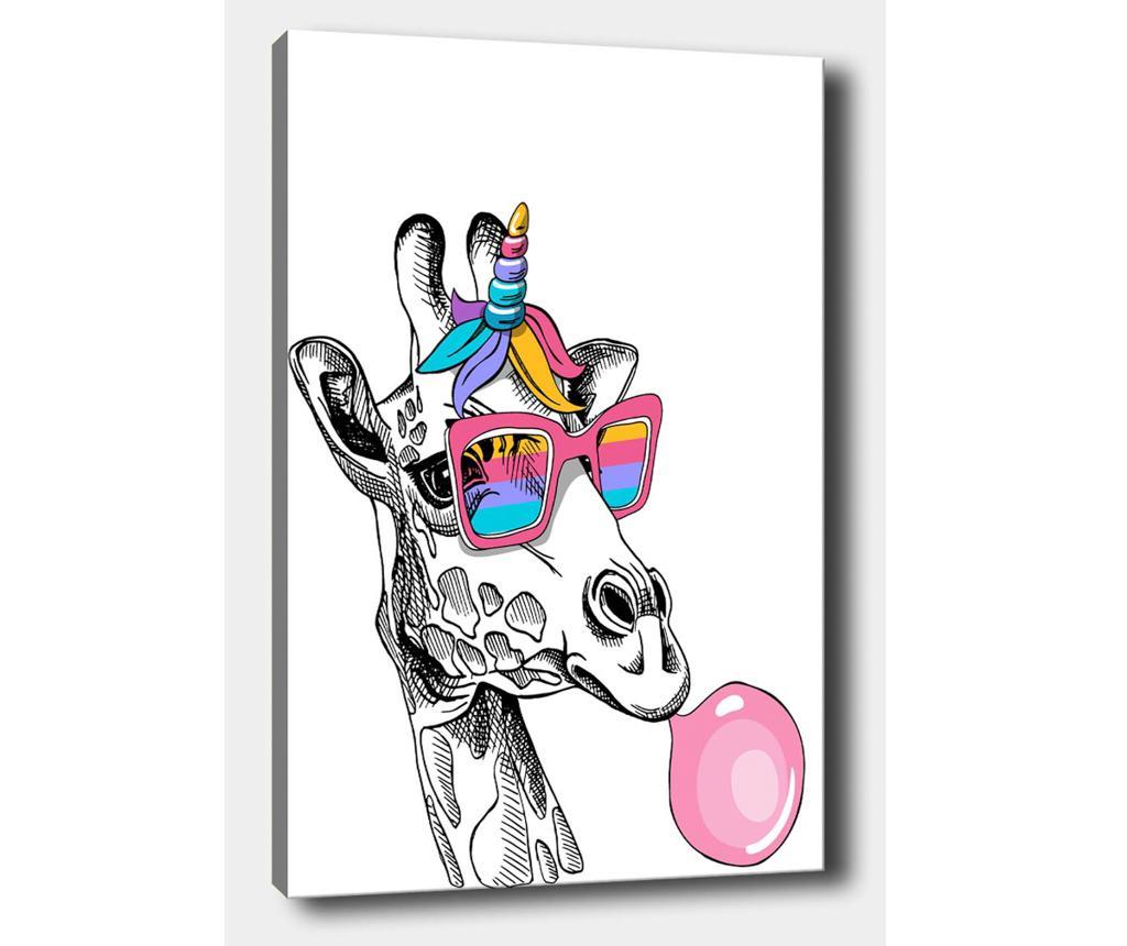Tablou Giraffe Baloon 50x70 cm - Tablo Center, Multicolor imagine