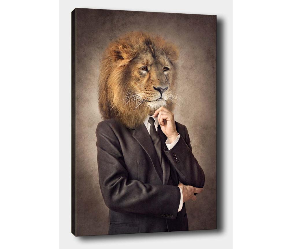 Tablou Mr Lion 70x100 cm - Tablo Center, Multicolor imagine
