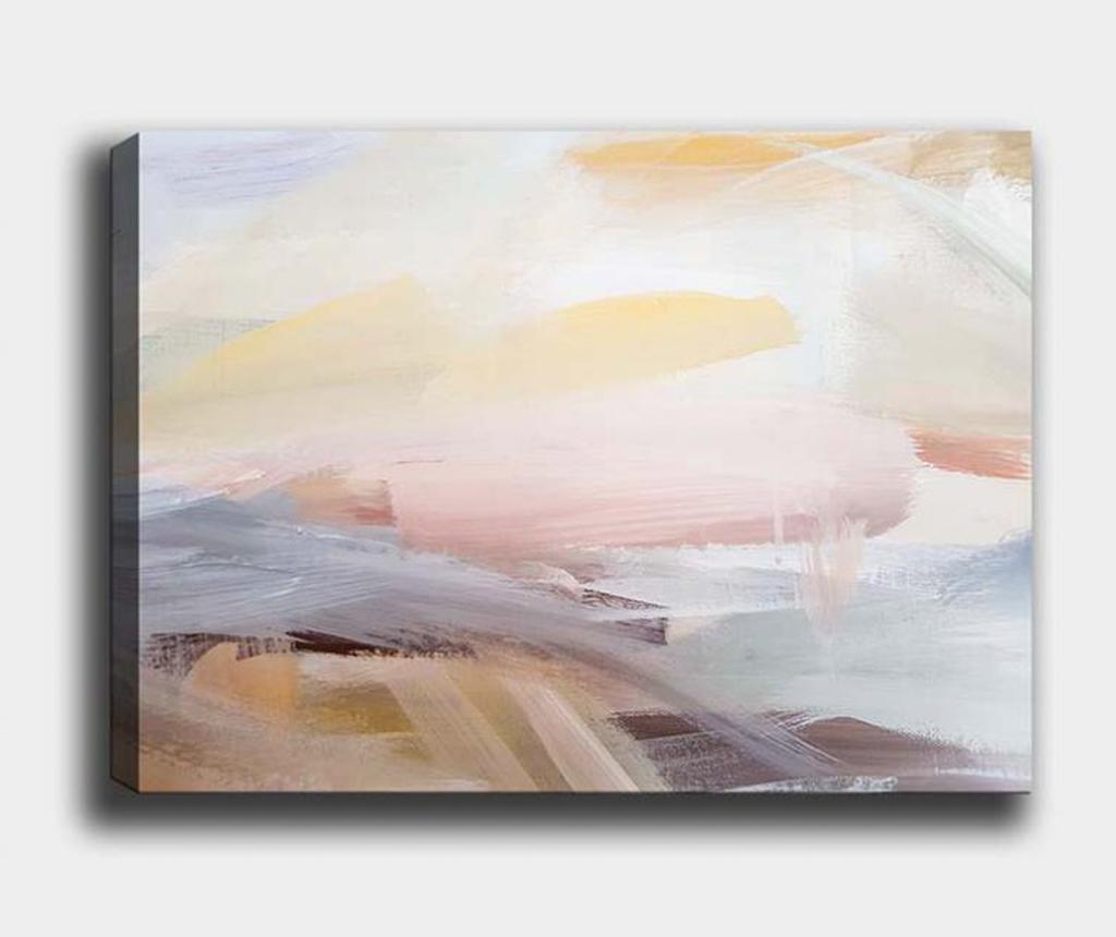 Tablou Abstract Sunrise 100x140 cm - Tablo Center, Multicolor