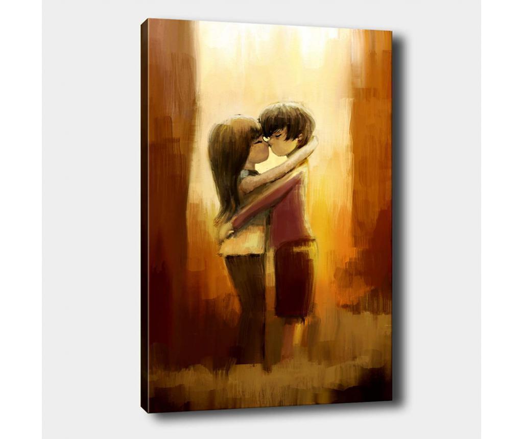 Tablou Love 100x140 cm - Tablo Center, Multicolor imagine
