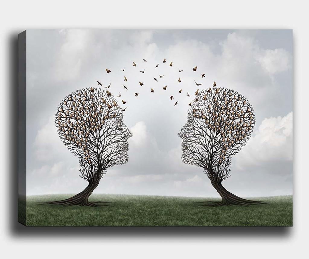 Tablou Tree-Bird 50x70 cm - Tablo Center, Multicolor imagine