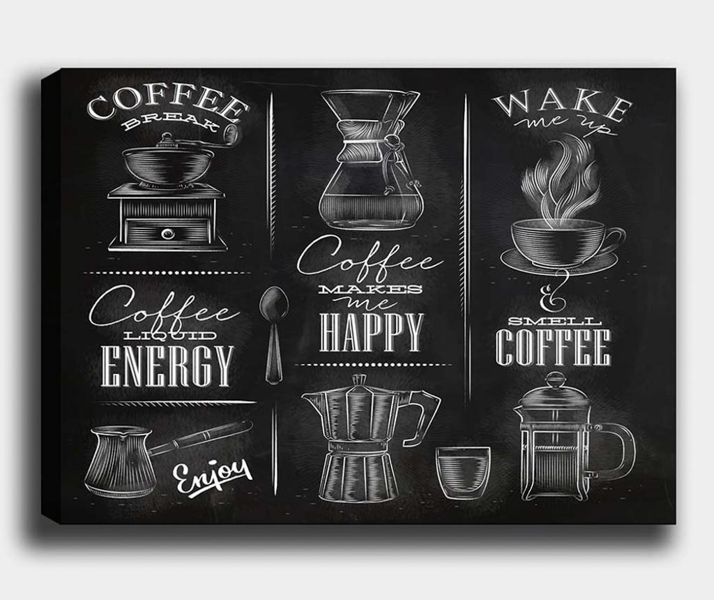 Tablou Coffee 70x100 cm - Tablo Center, Multicolor imagine