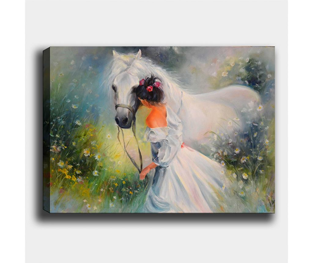 Tablou Horse 70x100 cm - Tablo Center, Multicolor imagine