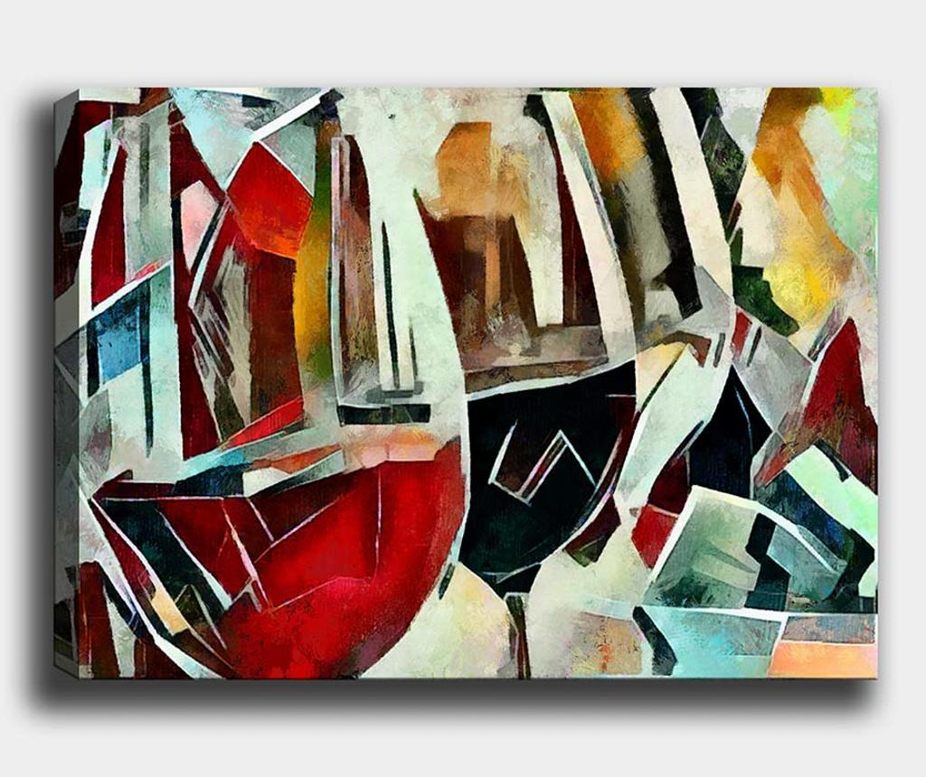 Tablou Wine Glass 100x140 cm - Tablo Center, Multicolor imagine